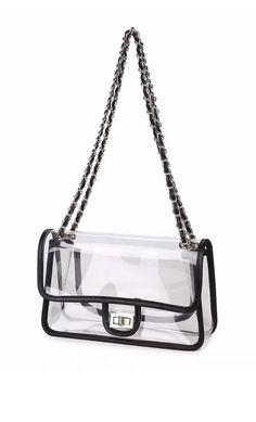 Nfl Concert Venue Roved Transparent Turnlock Chain Bag A La Chanel Spring 2018 Ebay