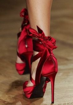 Simply red, not simple though. Pair these with  a leather jacket!