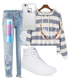 """""""Untitled #101"""" by yangkasiarose ❤ liked on Polyvore featuring Dsquared2, Vans, Frends, LifeProof and Maybelline"""