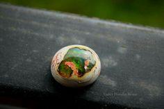 Mexican fire opal in matrix.  Atelier Hanako Stone.