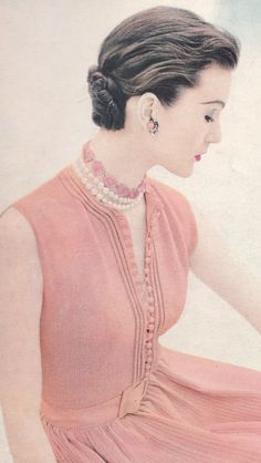 Vintage Formal Evening Blouse Knitting Pattern