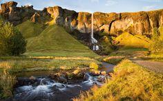 Skały, Wodospad, Rzeka, Kamienie, Drzewa