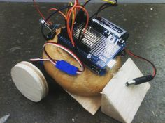 Behold the bagelBot #arduino #robots #sumobots #stem by jonesin4science