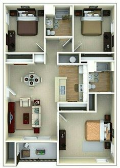 58 Best Ideas For Apartment Layout Ideas Floor Plans Model House Plan, Sims House Plans, House Layout Plans, Dream House Plans, House Layouts, Small House Plans, House Floor Plans, The Plan, How To Plan