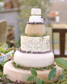 DIY Cheese Wheel Cake - for the couple who loves cheese! IdoDIYs.com