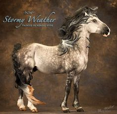"""Stormy Weather is the resin """"Stormwatch"""" by the talented Sarah Minkiewicz-Breunig, painted by Addi Hude and photographed by Melanie Miller"""