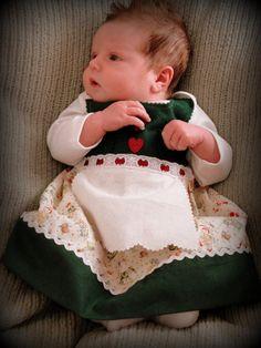 Newborn German Dirndl dress by adasaccessories4me on Etsy, $46.00