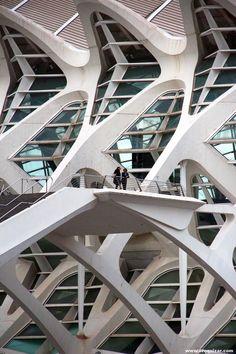 Sala de Teatro, Salas de Exposiciones, Museos, Valencia, Spain. Santiago Calatrava / Félix Candela. 1990.