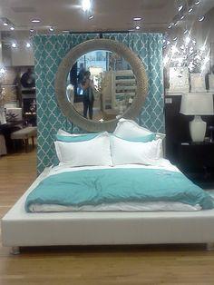 #Teal Bedroom Display from Z Gallerie #aqua