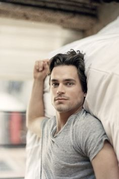 In bed with... Matt Bomer :)