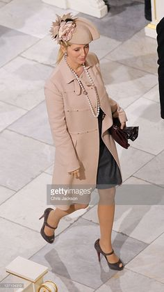 Crown Princess Marie Chantal Of Greece, Attend A Celebratory Service At Christiansborg Chapel, To Mark The 40Th Jubilee Of Queen Margrethe Of Denmark'S Reign. January 15, 2012
