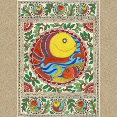 Madhubani Fish :) #Madhubani #painting #fish #IndianFolkArt #featuregalaxy