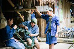 Mahouts making rope, The Royal Thai Elephant Conservation Centre (Lampang, Thailand)