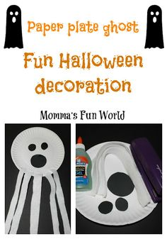 Momma's Fun World: Ghost paper plate craft