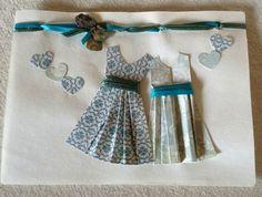 Wedding -Engagement - Anniversary Congratulations: two pretty dresses
