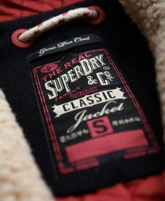 Superdry Gene Plain Pea Coat