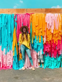 What I Wore This Week | studiodiy.com Backdrops For Parties, Grad Parties, Festival Decorations, Streamers, Streamer Decorations, Colorful Decor, Event Design, Party Planning, Party Time