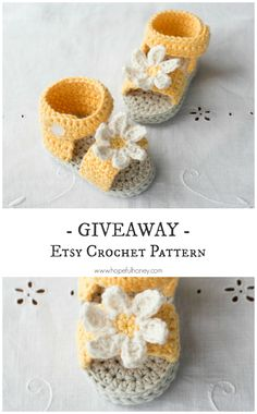 Daisy Delight Baby Sandals - Crochet Pattern + Giveaway ☂ᙓᖇᗴᔕᗩ ᖇᙓᔕ☂ᙓᘐᘎᓮ http://www.pinterest.com/teretegui