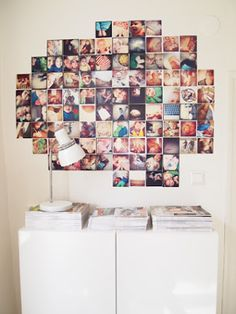 Instagram wall. And wallgreens does Instagram 4x4 prints!