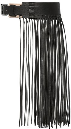 Sunda fringed leather belt By Malene Birger