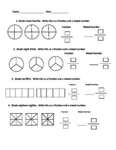 math worksheet : fractions worksheets and numbers on pinterest : Fractions To Mixed Numbers Worksheet