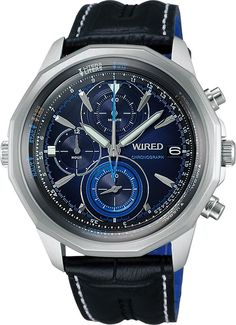 SEIKO ワイアード WIRED 腕時計 THE BLUE ザ・ブルー 丸型モデル AGAW422 メンズ   商品から探す   ALEXCIOUS Affordable Watches, Seiko, Casio Watch, Omega Watch, Watches For Men, Quartz, Amazon, Blue, Accessories