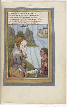 Ovide , Héroïdes ou Epîtres , traduction d' Octavien de Saint-Gelais, f°53r
