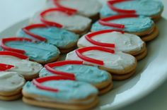 Red & Aqua Birthday Beach Bash - flip flop cookies