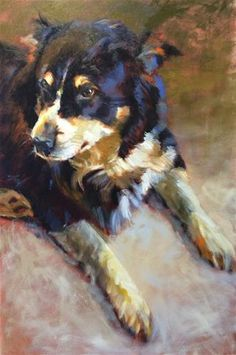 """Daily Paintworks - """"Annabelle"""" by Heather Arenas"""