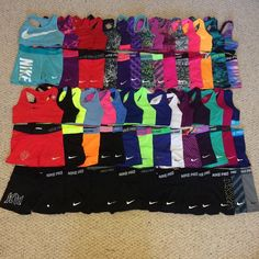 ISO any size small Nike pro shorts and sports bras Cute Nike Outfits, Cheer Outfits, Cute Lazy Outfits, Sporty Outfits, Teen Fashion Outfits, Athletic Outfits, Athletic Wear, Gym Outfits, Fitness Outfits