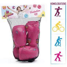 Disney Soy Luna beschermingskit  Bescherm je polsen ellebogen en knieën tijdens het schaatsen of fietsen met deze Disney Soy Luna-beschermingskit!  EUR 19.99  Meer informatie