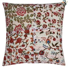 This is a Cotton Fabric Hand Embroidered Patchwork Cushion Cover. - You Will Receive Similar Color Assorted Patchwork Design Cushion Cover. - Pillow insert is not included. Colourful Bedroom, Bedroom Colors, Patchwork Cushion, Patchwork Designs, Cushions, Pillows, Indian Ethnic, Pillow Inserts, Cotton Fabric