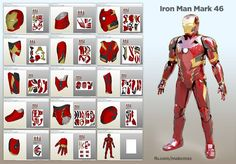 Civil War Iron Man - Mark 46 Cosplay papercraft   Saca só   Armor Iron Man Mark 46!   Pronta para EVA e a criação de seu cosplay.     Está ...