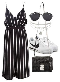 """Untitled #2512"" by mariie00h ❤ liked on Polyvore featuring Boohoo, NIKE, Miu Miu and Givenchy"