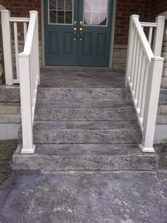 Armstrong concrete - porch steps. http://in-oshawa.com/concrete