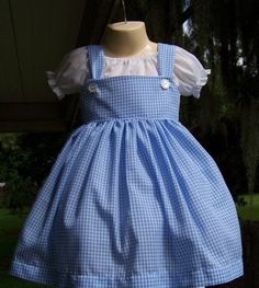 DM custom boutique Dorothy Two piece dress set wizard of oz costume