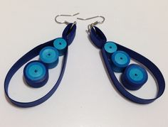 Quilling Drop Earrings