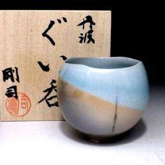 NG8: Japanese Sake cup, Tanba Ware by Famous potter, Uenaka Tsuyoshi, Firewood in Antiques, Asian Antiques, Japan | eBay