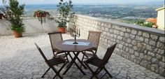 www.lecamerepinte.it  one of the terrace with a panoramic view from the roman's hills to the pontine islands...