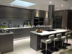 Image result for Grey lacquer high gloss luxury kitchens