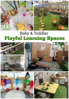 Designing playful learning spaces for babies and toddlers.