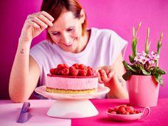 Baking Bad, Baked Goods, Biscuits, Raspberry, Cheesecake, Brunch, Fruit, Desserts, Bavarian Cream