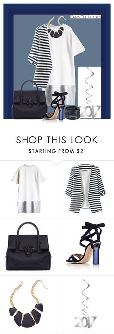 """to start working in 2017"" by lilivals on Polyvore featuring mode, WithChic, Versace, Gianvito Rossi, Thalia Sodi et ABS by Allen Schwartz"