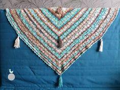Lady with crochet: Bawełniana chusta z frędzlami/ Crochet shawl