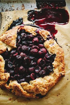 rustic cherry galette.  sprouted kitchen