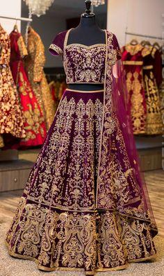Bollywood Indian Bridal Lehenga Choli Pakistani Wedding Wear Lengha Dress New Indian Lehenga, Indian Wedding Lehenga, Bridal Lehenga Choli, Blue Lehenga, Lehenga Gown, Purple Lehnga, Designer Bridal Lehenga, Ethnic Wedding, Ghagra Choli