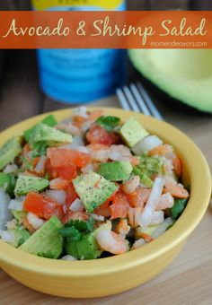 Avocado & Shrimp Salad - a great quick & healthy recipe! #paleo