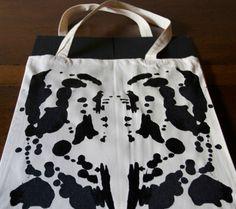 DIY Rorschach Ink Blot Tote