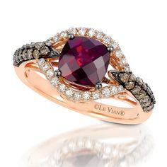 Le Vian� Rhodolite Garnet and Diamond Ring