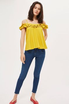 Cold Shoulder Sun Top - Tops - Clothing - Topshop USA